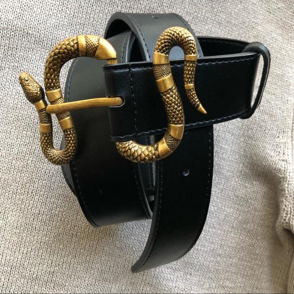 f141e6651 Gucci Accessories   New Leather Belt Snake Buckle Belt   Poshmark